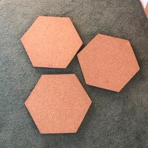 Other - 😊 5/$20 Octagon Cork boards (3)